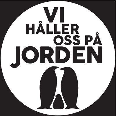 Vi håller oss på jordens logo type