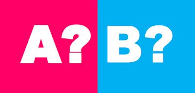 Bild på ett A? och ett B?